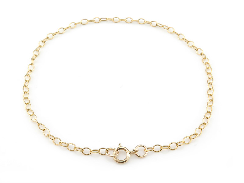 Gold Filled Cable Chain Bracelet ~ 7.5''
