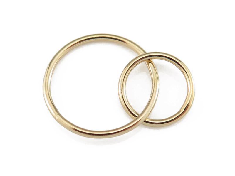 Gold Filled Double Circle Connector 15mm & 10mm