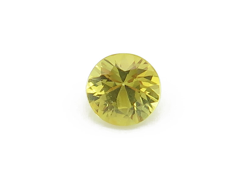Yellow Sapphire Faceted Round 4mm
