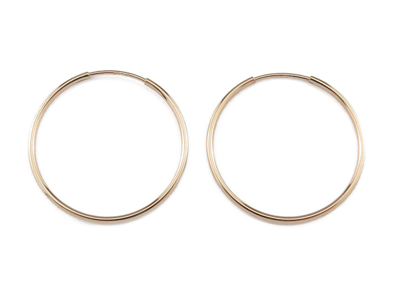 Gold Filled Earring Hoop 24mm ~ PAIR