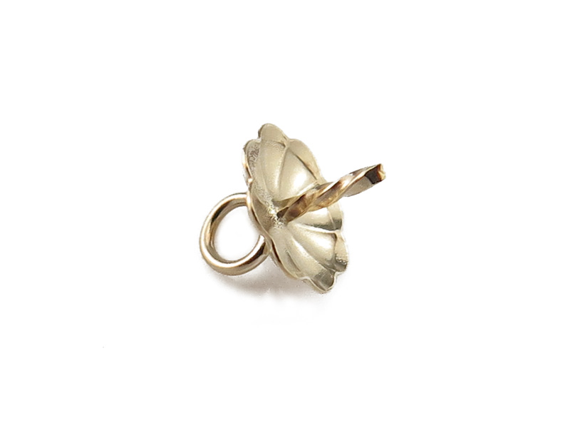 Gold Filled Flower Cup and Peg Drop 6mm