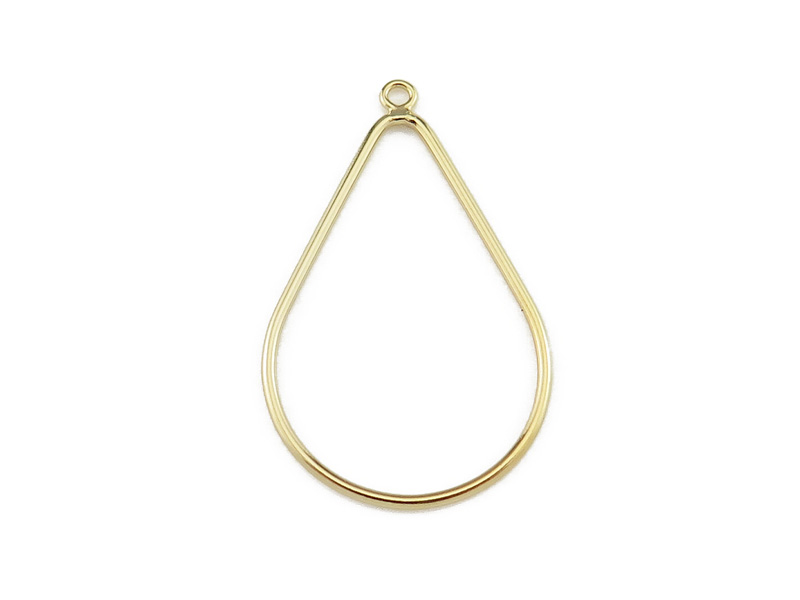 Gold Filled Pear Drop 32mm