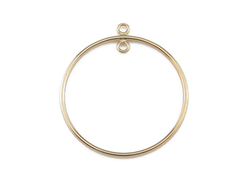 Gold Filled 1 Loop Round Drop 25mm