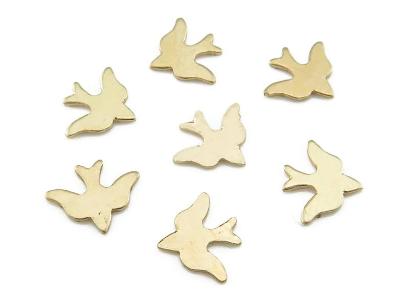 Gold Filled Bird Solderable Accent 8.25mm