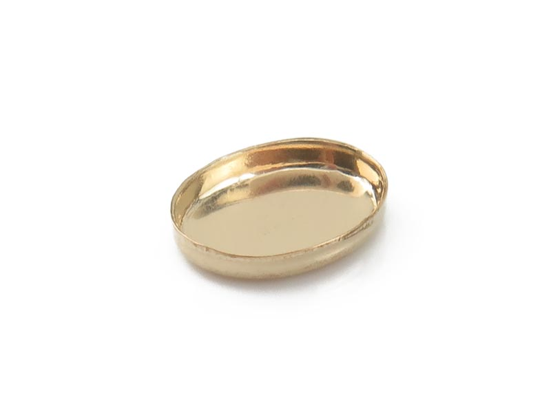 Gold Filled Oval Bezel Cup Setting 8mm x 6mm