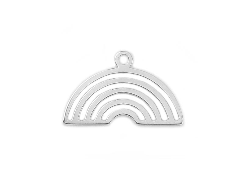 Sterling Silver Rainbow Pendant 17mm