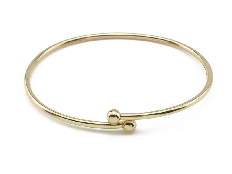 Gold Filled Bangle with Removable Ball ~ 7''