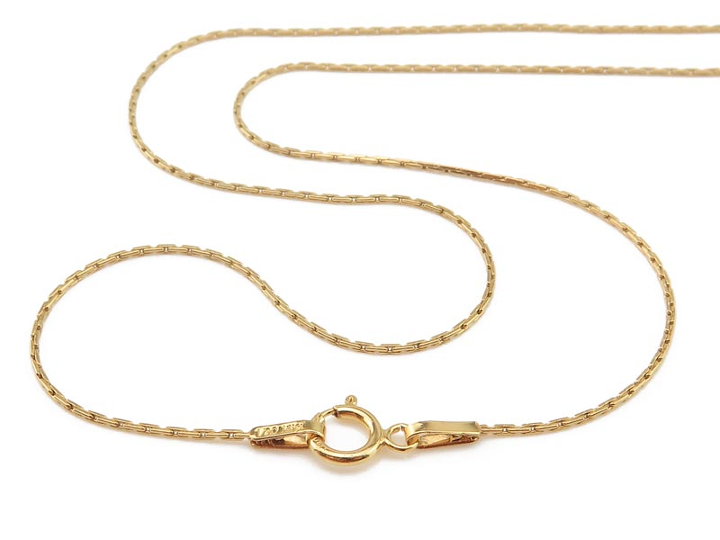 Gold Filled Beading Chain Necklace with Spring Clasp ~ 16''