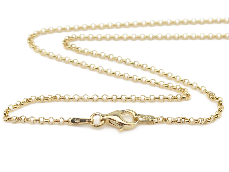 Gold Vermeil Belcher Chain Necklace with Clasp 19.75''