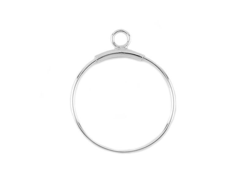 Sterling Silver Open Hoop Drop 20mm