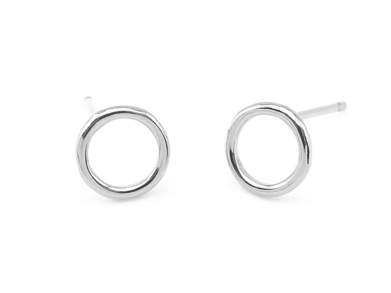 Sterling Silver Round Circle Ear Posts 7mm ~ PAIR
