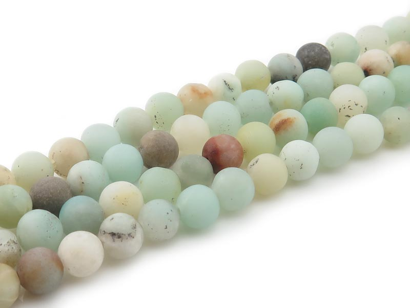 Andean Opal Matt Round Beads 6.5mm ~ 15.5'' Strand