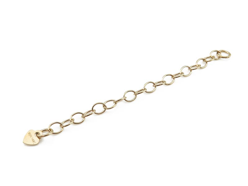 Gold Filled Cable Extension Chain with Heart ~ 2''