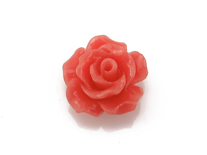 Bamboo Coral Carved Flower 10mm ~ SINGLE