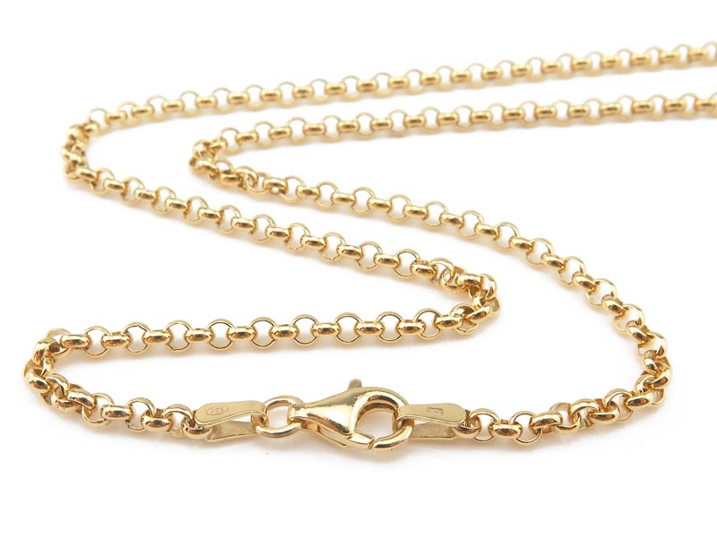 Gold Vermeil Belcher Chain (2.5mm) Necklace with Clasp 17.75''