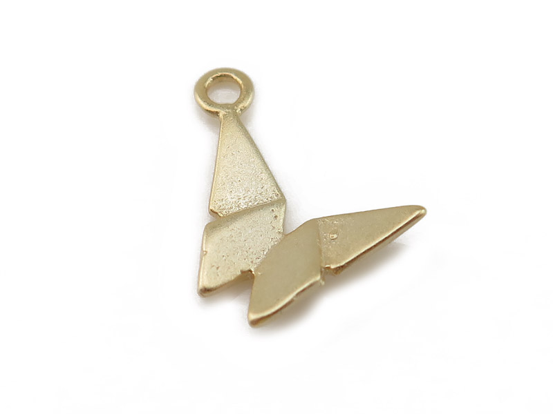Gold Vermeil Origami Butterfly Charm 12mm