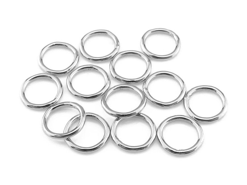 Sterling Silver Closed Jump Ring 6mm ~ 20ga ~ Pack of 10