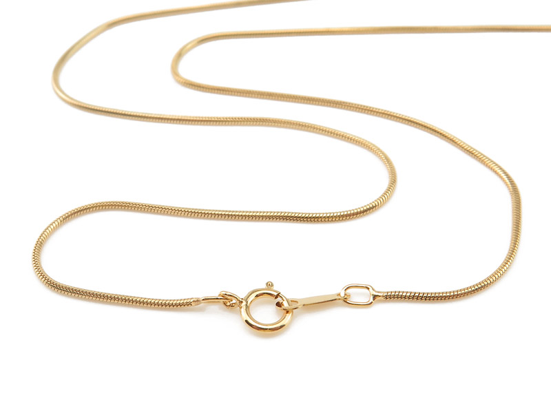 Gold Filled Snake Chain Necklace with Spring Clasp ~ 20''