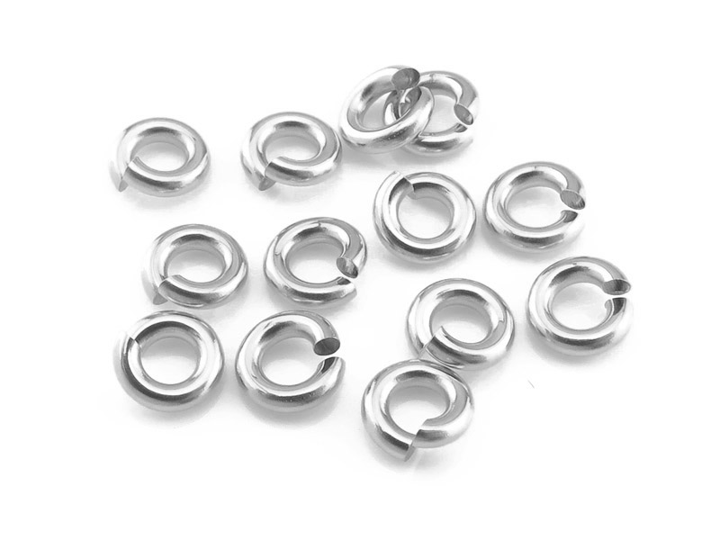 Sterling Silver Open Jump Ring 4mm ~ 18ga ~ Pack of 10