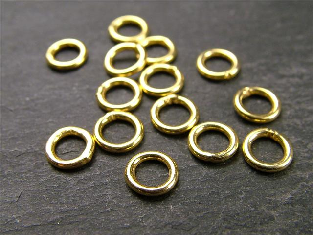 Gold Vermeil Closed Jump Ring 5mm ~ 22ga