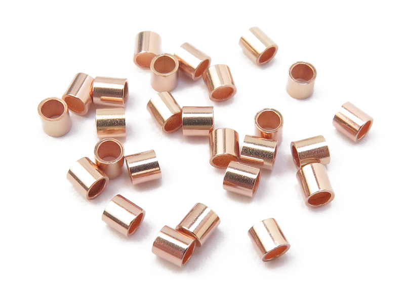 Rose Gold Filled Crimp 2mm x 2mm ~ Pack of 10