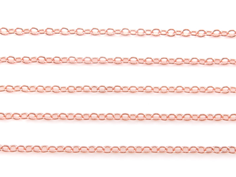 Rose Gold Filled Cable Chain 2 x 1.6mm ~ Offcuts