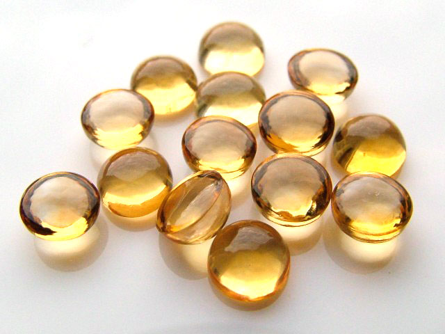 Citrine Round Cabochon ~ Various Sizes