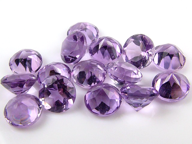 Brazilian Amethyst Faceted Round ~ Various Sizes
