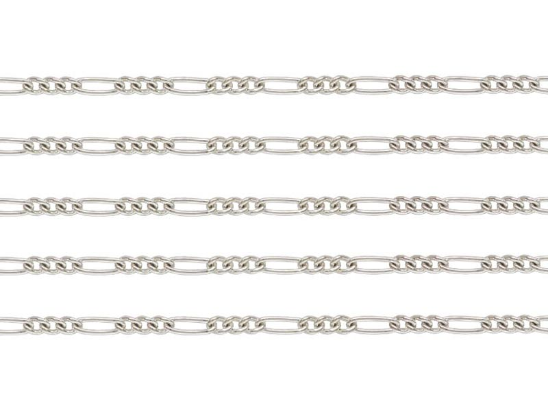 Sterling Silver Figaro Chain 3.25mm ~ Offcuts