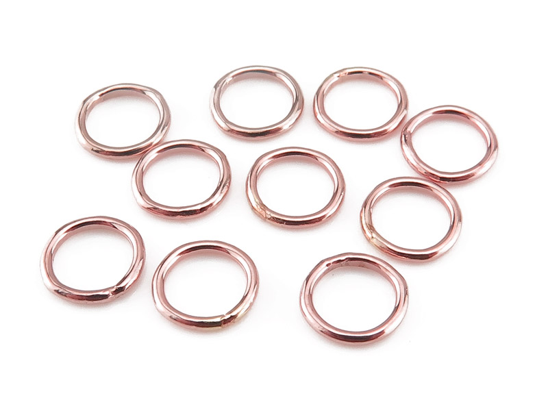 Rose Gold Filled Closed Jump Ring 6mm ~ 20ga ~ Pack of 10