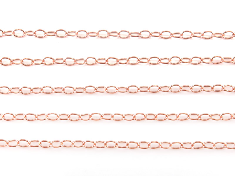 Rose Gold Filled Cable Chain 3 x 2mm ~ Offcuts