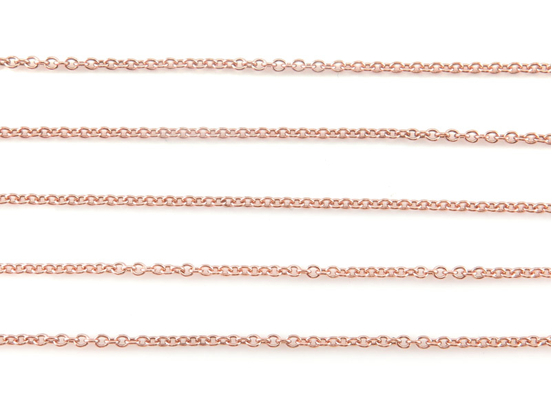 Rose Gold Filled Cable Chain 1.5 x 1.2mm ~ Offcuts