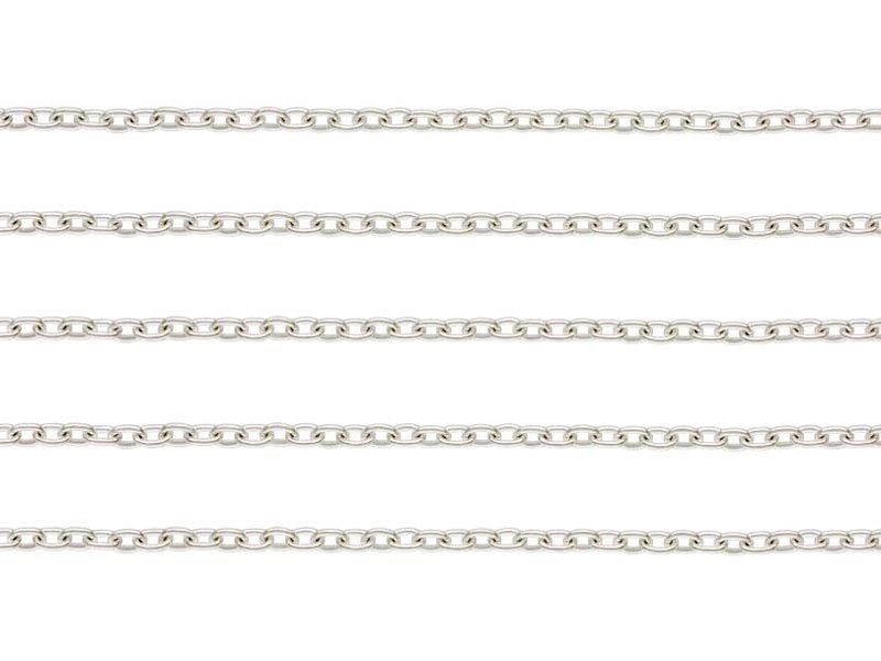 Sterling Silver Cable Chain 1.6 x 1.2mm ~ by the Foot