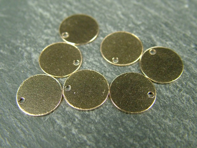 Gold Filled Round Tag/Disc 9mm (Thin) ~ Optional Engraving