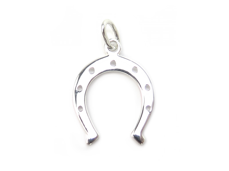 Sterling Silver Horseshoe Pendant 18mm