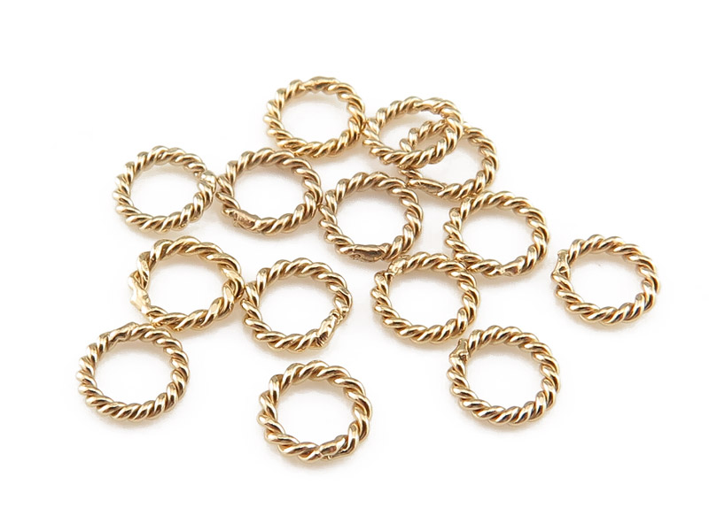 Gold Filled Twisted Closed Jump Ring 4mm ~ Pack of 10