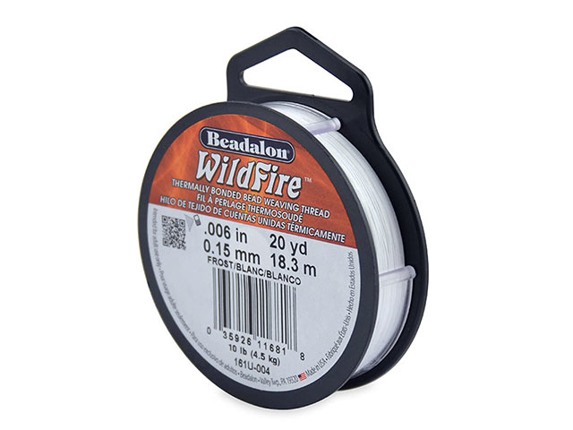 Beadalon Wildfire 0.006'' (0.15mm) - Frost - 18 metres