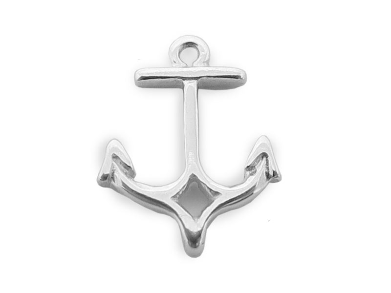 Sterling Silver Anchor Charm 10mm