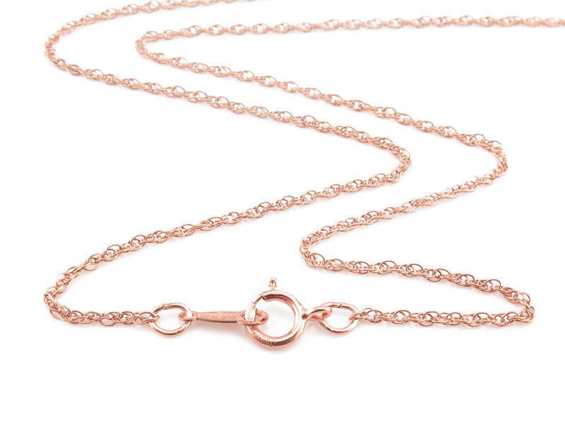 Rose Gold Filled Rope Chain Necklace with Spring Clasp ~ 18''