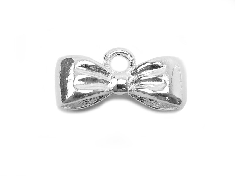 Sterling Silver Bow Charm 12mm