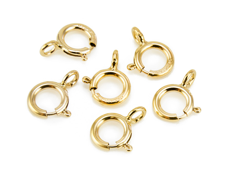 Gold Filled Spring Ring Clasp w/Open Ring 5mm