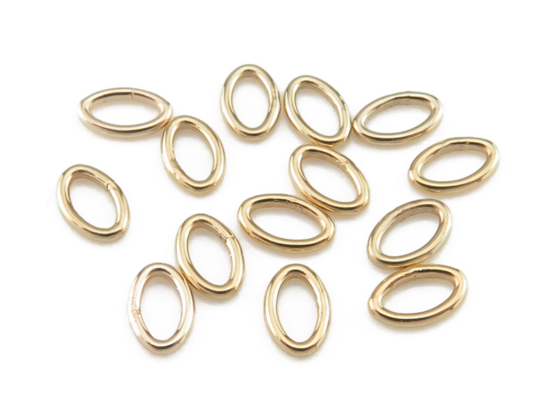 Gold Filled Oval Closed Jump Ring 4.5mm ~ 22ga ~ Pack of 10