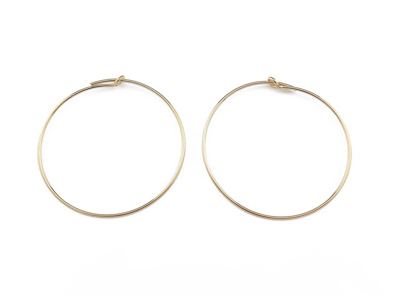 Gold Filled Beading Hoop 30mm ~ PAIR