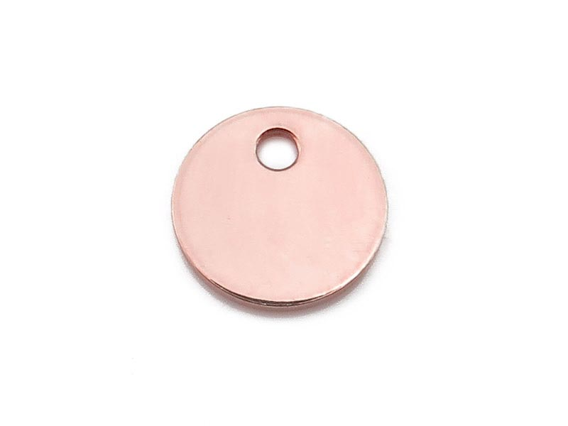 Rose Gold Filled Round Tag 6mm