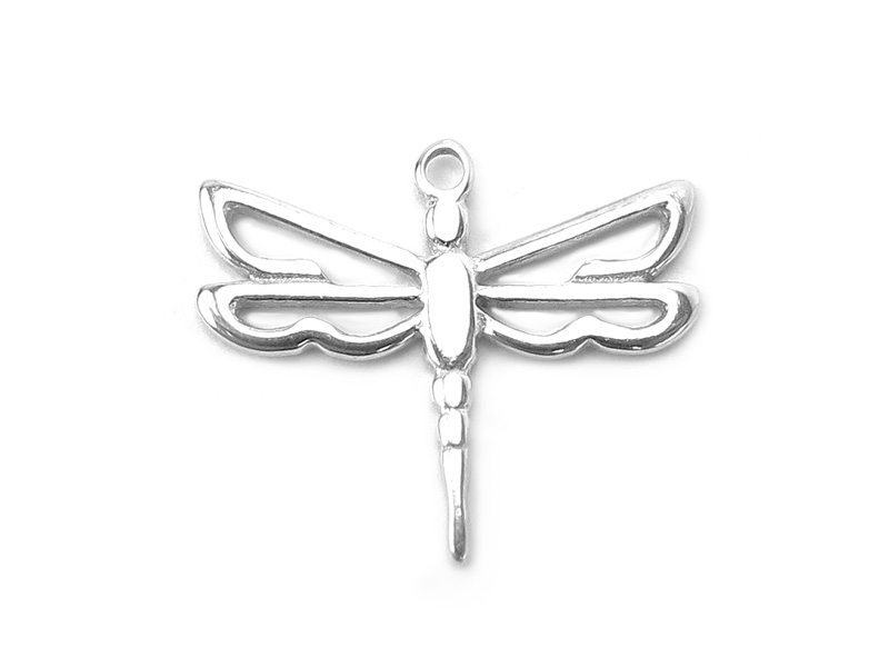 Sterling Silver Dragonfly Pendant 14mm