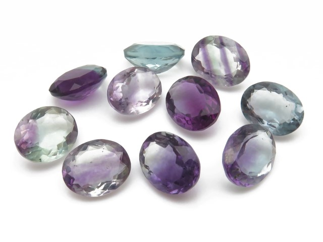 Fluorite Faceted Oval ~ Various Sizes