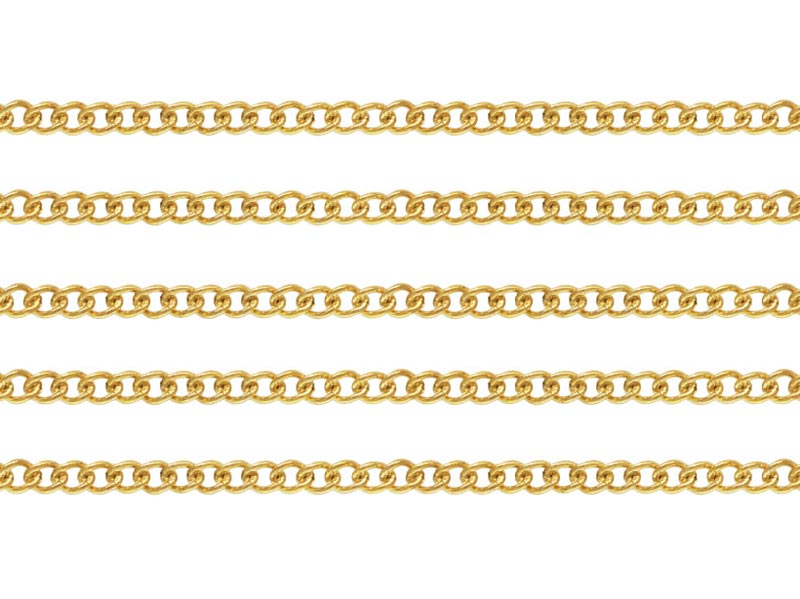 Gold Filled Curb Chain 2 x 1.5mm ~ by the Foot