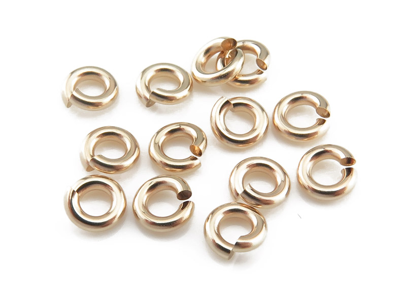Gold Filled Open Jump Ring 4mm ~ 18ga ~ Pack of 10