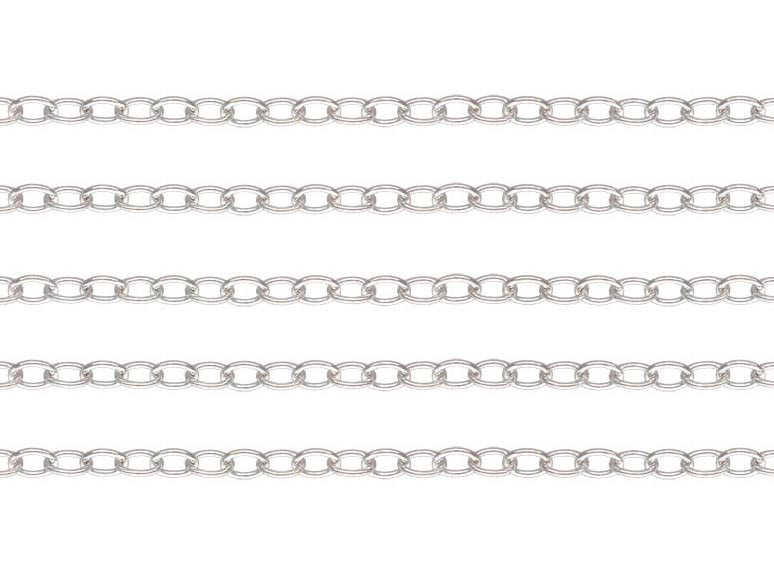 Sterling Silver Cable Chain 2 x 1.5mm ~ Offcuts