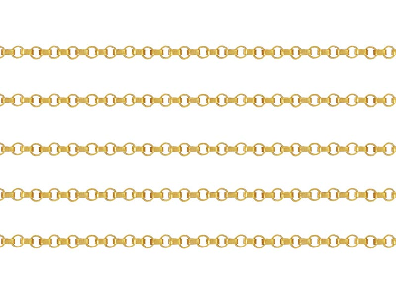 Gold Filled Rolo Chain 1.2mm ~ by the Foot